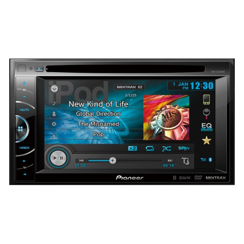 "Multimídia DVD Pioneer, Double-Din Painel Display Touch VGA de 6.1"", MIXTRAX, Bluetooth e Controle USB Direto para iPod/iPhone e Determinados Telefones com Android"