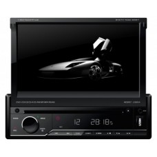"Dvd Player Retratil 7"" Napoli com Bluetooh - Entrada USB/Cartão SD com AM/FM/TV"
